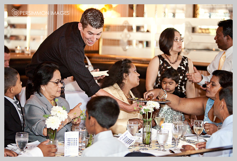 A Grey Yellow Wedding Reception at Lake Union Cafe Catherine Micah