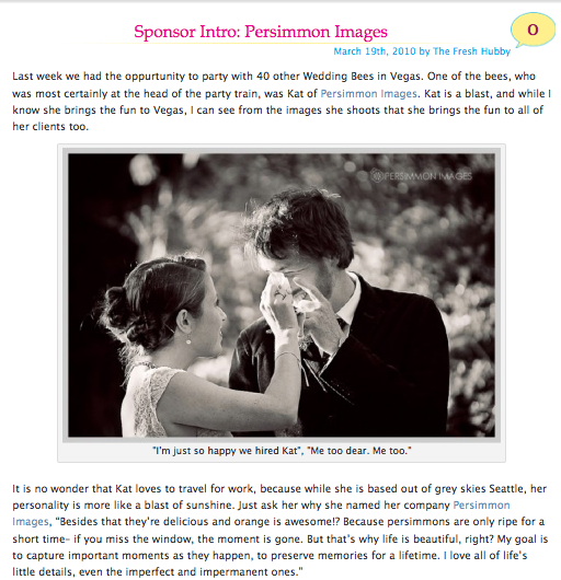 Persimmon Images photography featured on the Broke-Ass Bride Blog