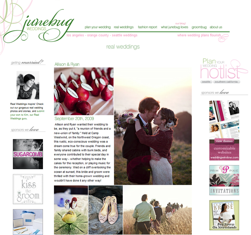 Junebug Real Weddings: Junebug Real Weddings » Persimmon Images
