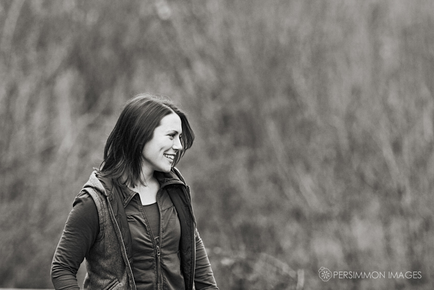 Therese smiling at her daughter Rose during a family portrait session at Volunteer Park