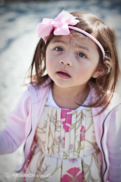 Child portrait at the Skagit Valley Tulip festival by Photographer Kat Speyer