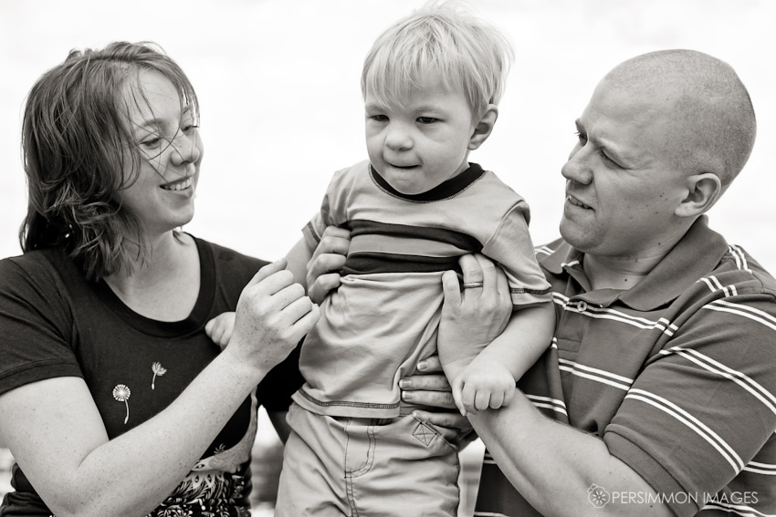 Contemporary family photography at the Tacoma Museum of Glass with a mother, son, and father