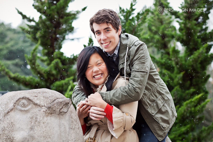Seattle engagement photography at Volunteer Park and the Seattle Asian Art Museum Camels