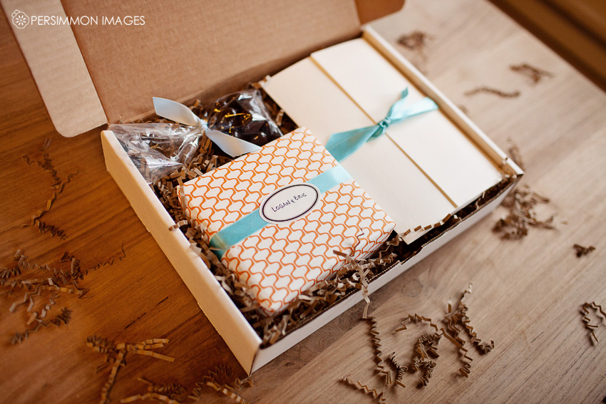 The finishing touches packaging it all up for clients for Wedding photography packaging ideas