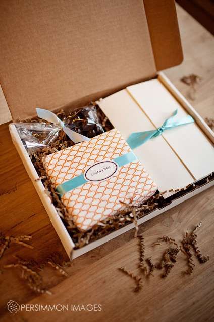 Packaging for wedding photography clients by Seattle wedding photographer Persimmon Images