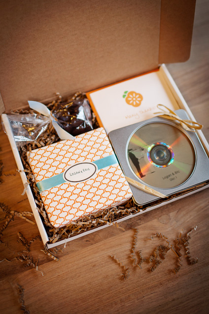 Details of wedding photography packaging for Seattle couples