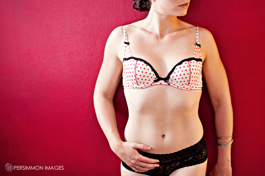 Seattle Boudoir Photography in studio by Persimmon Images. Sexy lingerie pinup poses.