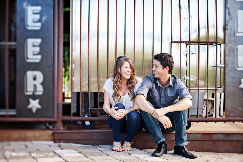 Whidbey Island engagement photography at Useless Bay Coffee in Langley, WA