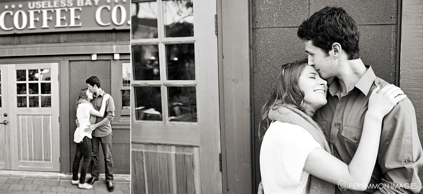 Useless Bay Coffee Engagement Photography in Langley, WA on Whidbey Island