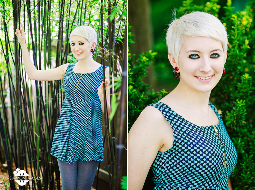Wallingford senior portrait with bamboo. Seattle senior portrait photography by Persimmon Images