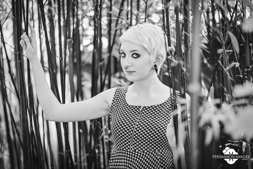 Seattle senior fine art portrait photography. Wallingford senior portrait with bamboo grove